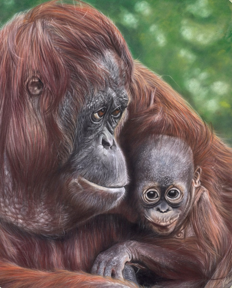 Mother's Love by valerie simms -  sized 16x20 inches. Available from Whitewall Galleries
